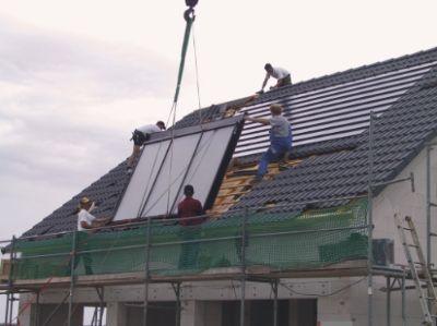 Solaranlage im dach integriert
